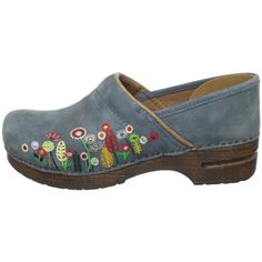 dansko clogs-I wear this suede embroidered clog all the time