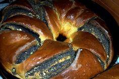 Cozonac Cu Mac si Ghimbir- Makos Koszoru   Retete Culinare - Bucataresele Vesele Romanian Food, Mac, Bread, Breads, Bakeries, Patisserie