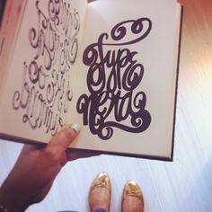 Typenerd original doodle. #lettering #letteringdaily #type #doodle #sharpie #sketchbook - @magicmaia- #webstagram