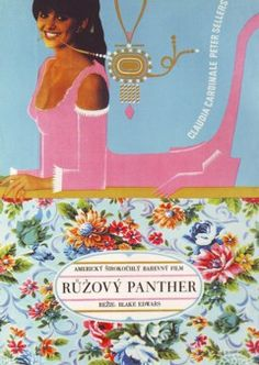 The Pink Panther Film / Movie Poster Original Vintage 1966 Czech Panthères Roses, Film Movie, Movies, Films, Dangerous Minds, Claudia Cardinale, Pink Panthers, Illustrations, Film Posters