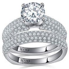 Valina Designer Engagement Ring With Pave Set Diamonds. Starting at $2214