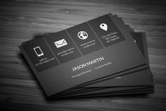 Gold and black business card black business card business cards metro dark corporate business card wajeb Images