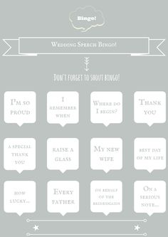 wedding bingo free downloadable template