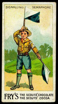 Tradecard - Boy Scout Semaphore Signalling by cigcardpix, via Flickr