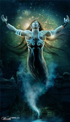 Photoshop Submission for Myth Creatures: Jinn' Contest I Dream Of Genie, Wish Spell, Voodoo Hoodoo, Modern Magic, Fantasy Races, D D Characters, Angels And Demons, Magic Carpet, The Conjuring