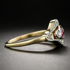 Love this one. Edwardian Ruby and Diamond Ring - 30-1-5162 - Lang Antiques