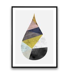 Goutte impression aquarelle art l'art abstrait par Wallzilla