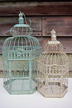 "DIY Shabby Chic | Shabby Chic, Rustic, Home, Party, or DIY Wedding Decor, 14"" Bird Cage"