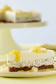Philadelphia Cake Lemon Poppy Seeds from Philadelphia Crockpot Beef Stroganoff Recipe, Philadelphia Torte, German Baking, Cake & Co, Low Calorie Recipes, Cheesecake Recipes, Cheesecake Cookies, No Bake Cake, Bakery