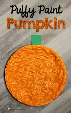 These puffy paint pumpkins smell great, and they will brighten up your room too. Your students are sure to love making this simple fall art activity.