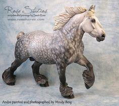 "Sculptor Sarah Rose - Painter Mindy Berg - "" Andres"" model horse"