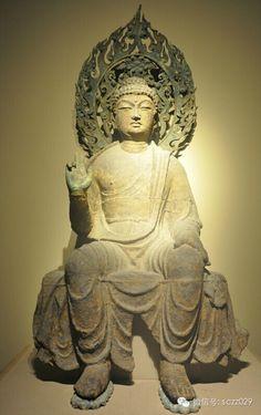 唐代倚坐弥勒像 铁制 现藏西安博物院