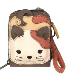 """Cat Credit Card Holder by Chala Handbags Size: 3.5""""W x 5""""H x 1""""D 