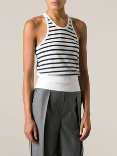 Pin for Later: This Classic Wardrobe Staple Was Made For Summer Days Vest Top T BY ALEXANDER WANG striped vest top (£100)