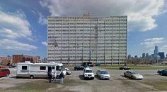 Cabrini-Green - Housing (demolished in 2011) - 1942-62 by Cabrini & Green - #architecture #googlestreetview #googlemaps #googlestreet #usa #chicago #brutalism #modernism