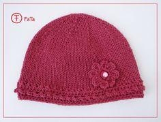 Accessoires - BabyMütze, Kindermütze,Taufmütze, mit Seide, rosa - ein Designerstück von FaTa bei DaWanda