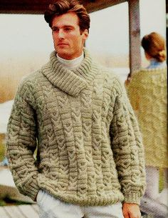 MADE TO ORDER shawl collar Sweater V neck men by BANDofTAILORS