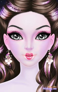 """while i was making this one, these were my thoughts, """"Oh that lipstick is good for the Queen Of Hearts"""" and """"Ooh yeah, lets make her a pink-obsessed FREAK!"""" Weird times, weird times."""