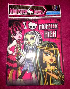 Monster High School Supplies Back-to-School Book Cover. have this- lexi