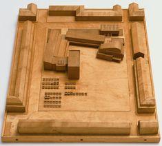 """Town Center, Avesta, Sweden  Alvar Aalto (Finnish, 1898–1976)    1944. Architecture model. Wood, 2 1/2 x 18 1/8 x 14 1/4"""" (6.4 x 46 x 36.2 cm). Emilio Ambasz Purchase Fund, Edward Larrabee Barnes Purchase Fund, and gift of Alvar Aalto Architects Ltd."""