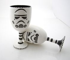 If only I had seen these more than a week before the wedding! Star Wars (R) Inspired Goblets great for Star Wars (R) storm trooper (R) inspired wedding via Etsy.