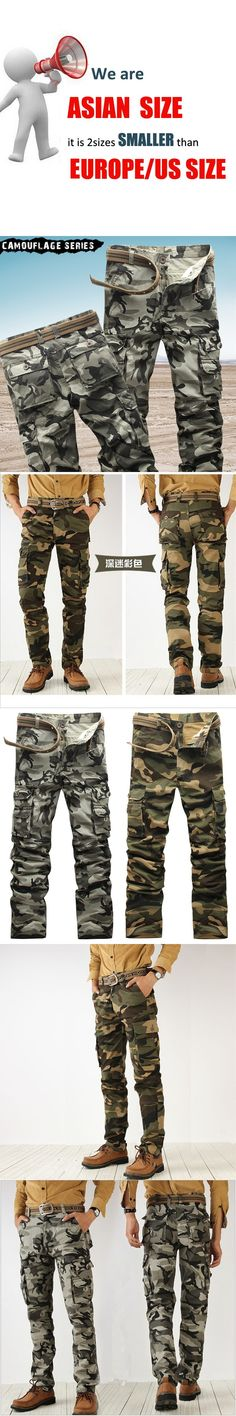 New products recommended 2017 hot men's spring fashion high-quality pants male large camouflage overalls trousers casual pants