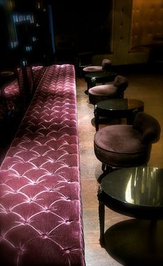 Plush velvet bench