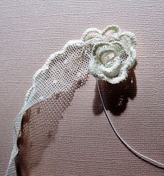 scrumplescrunch: How to make a Lace Flower. - - scrumplescrunch: How to make a Lace Flower…. scrumplescrunch: How to make a Lace Flower….