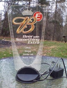 RARE Discontinued Budweiser Beer Bud E Energy Extra Lighted Sign AC Power Cord
