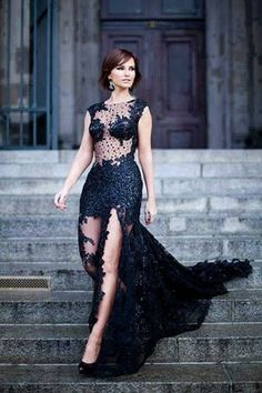 New Style Black Elegant lace Dresses Latest Women Fashion find more women fashion on misspool.com