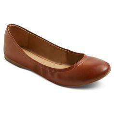 Women's Ona Wide Width Ballet Flats - Cognac (Red) 9.5W