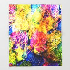 Fall Leave Abstract Throw Blanket