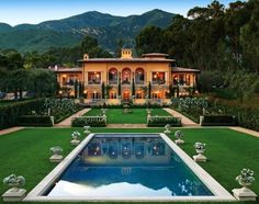 Villa Beaumont, an Italian-Renaissance country villa in Santa Barbara by Sorrell Design based on the work of the great 16th-century architect Giacomo Barozzi da Vignola