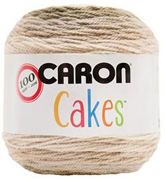 Caron Cakes Self-Striping Yarn ~ BUTTERCREAM ~ 7.1 oz. - See free crochet patterns featuring this yarn