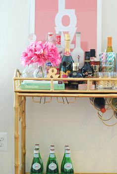 Why every girl needs a bar cart.. Love the #madebygirl LOVE print too :)