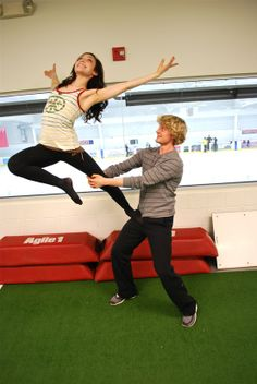 Meryl Davis & Charlie White. His face tho>>> and hair... And adorableness.