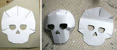 Skull Mask Template Day Of The Dead Halloween Skull Template, Mask Template, Day Of The Dead Mask, Day Of The Dead Skull, Paper Mache Mask, Paper Mask, Mascaras Halloween, Halloween Kostüm, Fimo Kids