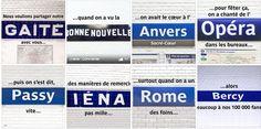 Pour fêter ses 100 000 fans, la RATP crée une superbe poésie avec des noms de stations