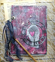 "My journey through the Scrapbookworld...: MM Art Journal Cover ""Heart of the Tree"""