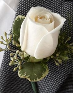 Shop Floral - Prom & Homecoming - White Rose Boutonniere