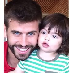 Pin for Later: The World Cup's Hottest Dads Are Even Bigger Stars in the Eyes of Their Kids Gerard Piqué — Spain Source: Instagram user shakira