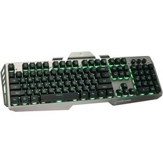 Iogear Gkb704L-Bk Kaliber Gaming(Tm) Hver Aluminum Gaming Keyboard (Black/Gray)