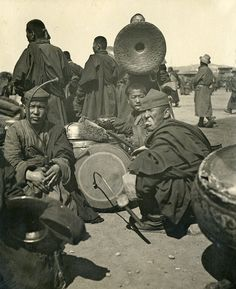 Mongolia, 1920s (note man is sticking out his tongue)