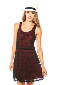 Black & Red Lace Dress