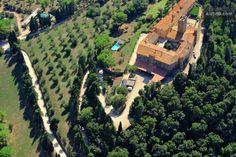 The castle of Marsiliana. Spot the pool in the garden