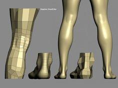 Psyche - Character modeling studies (Part - Autodesk Community Maya Modeling, Modeling Tips, 3d Model Character, Character Modeling, 3d Human, Human Body, Blender 3d, Mode 3d, Polygon Modeling