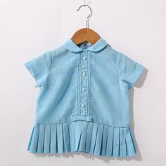 Blue vintage top for little girl.
