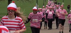 Thousands don red and white for 'Where's Waldo?' fun run in London