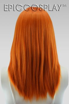 Orange Brown Hair, Orange Ombre Hair, Ombre Lips, White Hair, Golden Copper Hair Color, Ginger Hair Color, Bright Red Hair, Corte Y Color, Wig Making