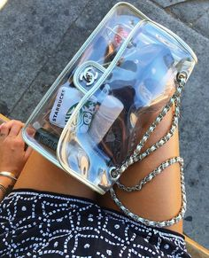 There are lots of luxury and well designed Chanel bags in the stores this season. I mean, who doesn't like a Chanel bag? Luxury Bags, Luxury Handbags, Purses And Handbags, Bag Sewing, Transparent Bag, Accesorios Casual, Clear Bags, Cute Bags, My Bags